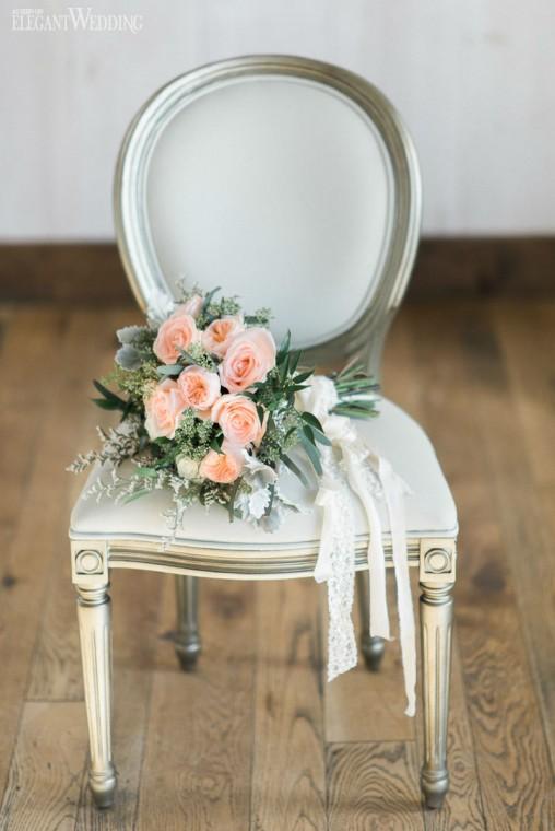 Bridal Bouquet for Jenn Kavanagh Photo Shoot for Elegant Wedding Magazine