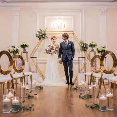 Wedding flowers, Brides bouquet, Pedestals